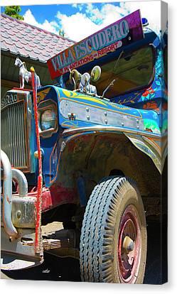 Jeepney Canvas Print