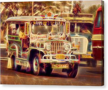Jeepney Manila Canvas Print