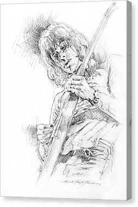 Jeff Beck - Truth Canvas Print by David Lloyd Glover