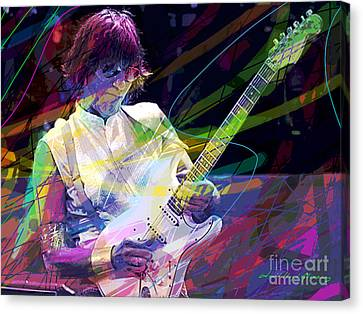 Jeff Beck Bolero Canvas Print by David Lloyd Glover