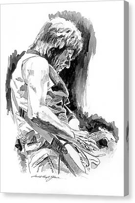 Jeff Beck In Concert Canvas Print by David Lloyd Glover