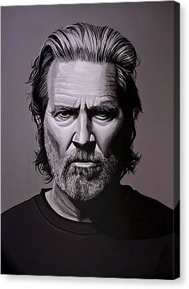 Jeff Bridges Painting Canvas Print by Paul Meijering