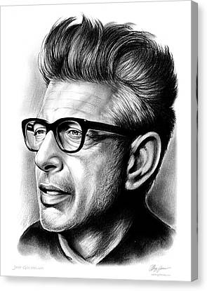 Jeff Goldblum Canvas Print by Greg Joens