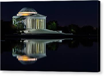 The Jefferson At Night Canvas Print by Ed Clark