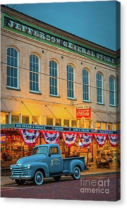 Parking Canvas Print - Jefferson General Store by Inge Johnsson
