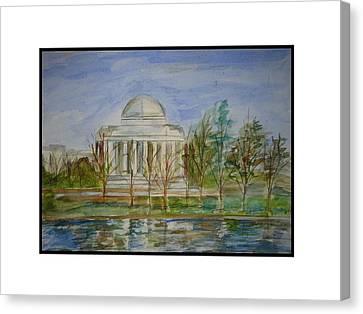 Jefferson Memorial Canvas Print by Angela Puglisi
