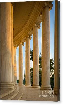 Jefferson Memorial Columns Canvas Print