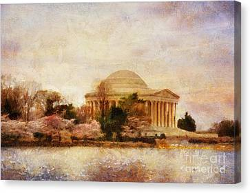 Memorial Canvas Print - Jefferson Memorial Just Past Dawn by Lois Bryan