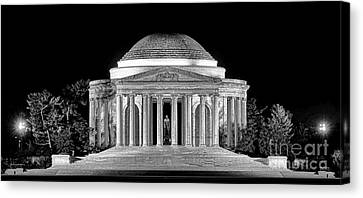 Jefferson Memorial Lonely Night Canvas Print by Olivier Le Queinec