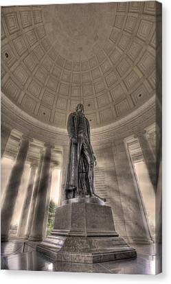 Jefferson Memorial Canvas Print by Shelley Neff