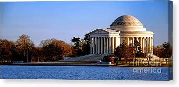 D.c. Canvas Print - Jefferson Memorial Sunset by Olivier Le Queinec