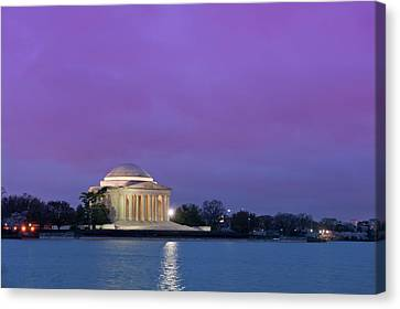 Early Morning Canvas Print - Jefferson Monument by Sebastian Musial