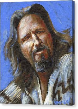 Jeffrey Lebowski - The Dude Canvas Print by Buffalo Bonker