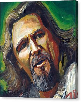 Jeffrey Lebowski The Dude Canvas Print by Buffalo Bonker