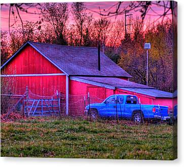 Jeff's Barn Canvas Print by Don Wolf