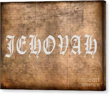 Jehovah Canvas Print by Edward Fielding