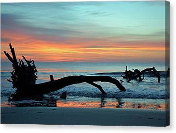 Canvas Print featuring the photograph Jekyll Island Sunrise 2016a by Bruce Gourley