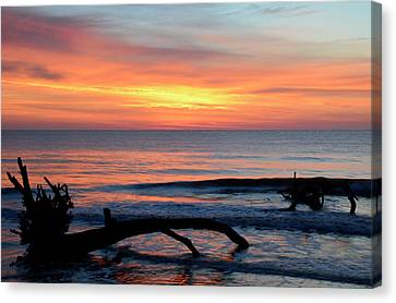 Canvas Print featuring the photograph Jekyll Island Sunrise 2016b by Bruce Gourley