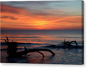 Canvas Print featuring the photograph Jekyll Island Sunrise 2016c by Bruce Gourley