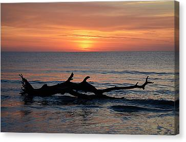 Canvas Print featuring the photograph Jekyll Island Sunrise 2016d by Bruce Gourley