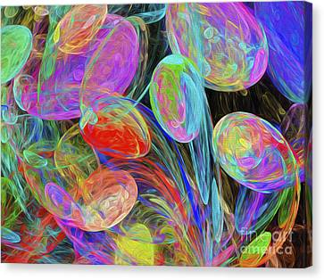 Jelly Beans And Balloons Abstract Canvas Print by Andee Design