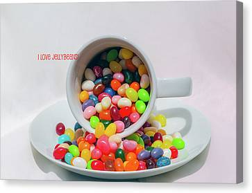 Canvas Print featuring the photograph Jelly Beans by Carolyn Dalessandro