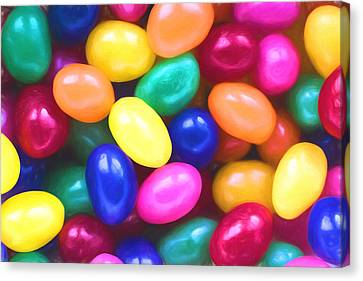 Jelly Beans Canvas Print by Terry DeLuco