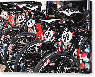 Jelly Belly Pro Racer Bikes Canvas Print by Natalie Ortiz
