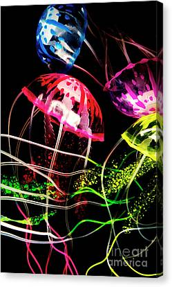 Jelly Fish Trails Canvas Print