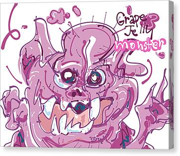 Jelly Monster Canvas Print