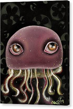 Jellyfish Canvas Print by  Abril Andrade Griffith