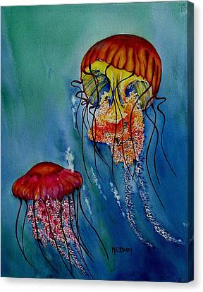 Jellyfish Canvas Print by Maria Barry