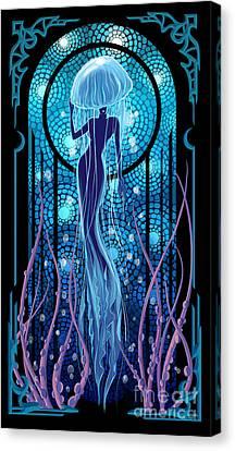 Canvas Print - Jellyfish Mermaid by Sassan Filsoof