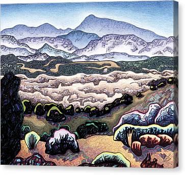 Jemez Mountains Canvas Print by Dale Beckman
