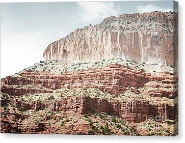 Jemez Red Rock Desert Mountain Landscape Canvas Print by Andrea Hazel Ihlefeld
