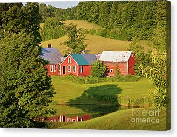 Canvas Print featuring the photograph Jenne Farm Reflection by Susan Cole Kelly