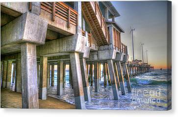 Jennette's Pier Canvas Print by Scott and Dixie Wiley
