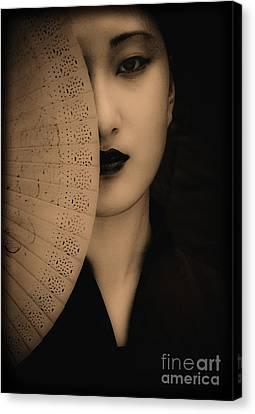 Jenni Portrait In Monochrome Canvas Print by Emilio Lovisa