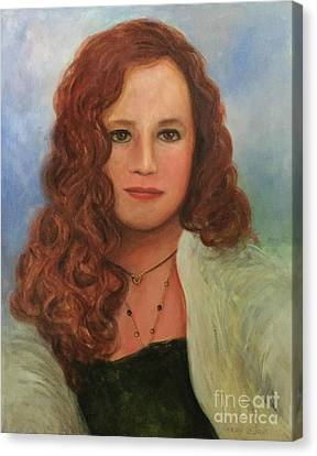 Canvas Print featuring the painting Jennifer by Randol Burns