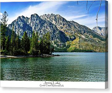 Jenny Lake Canvas Print by Greg Norrell