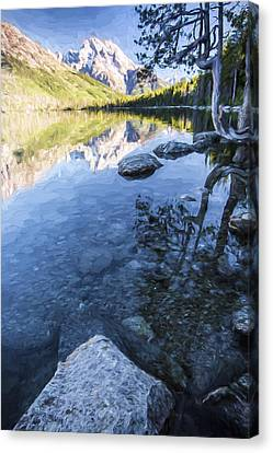 Jenny Lake In The Morning II Canvas Print