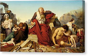 Jeremia Seated In The Ruins Of Jerusalem Canvas Print
