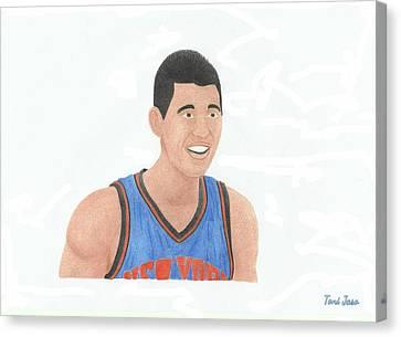 Jeremy Lin Canvas Print by Toni Jaso