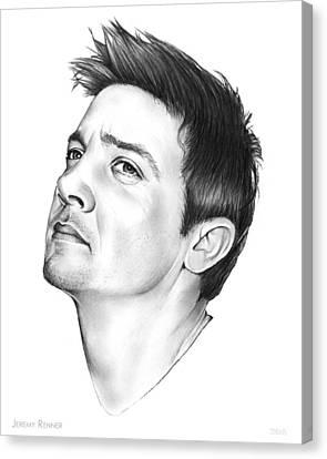 Jeremy Renner Canvas Print by Greg Joens