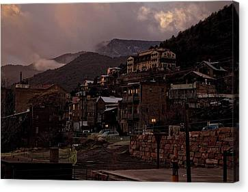 Canvas Print featuring the photograph Jerome On The Edge Of Sunrise by Ron Chilston