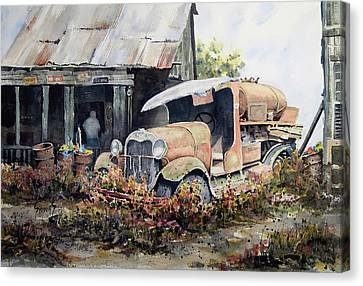 Jeromes Tank Truck Canvas Print by Sam Sidders