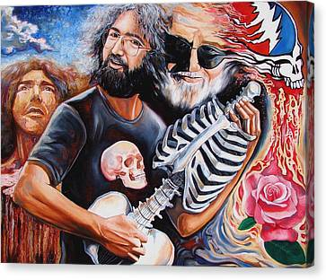 Abstract Expressionism Canvas Print - Jerry Garcia And The Grateful Dead by Darwin Leon