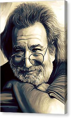 Jerry Garcia Artwork  Canvas Print by Sheraz A