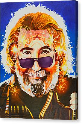 Jerry Garcia-dark Star Canvas Print by Joshua Morton