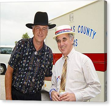 Jerry Jeff Walker And S. David Freeman Canvas Print by Marilyn Hunt